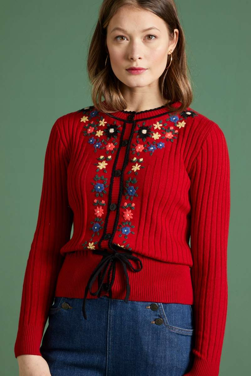 Margot cardi Fleur Chili Red