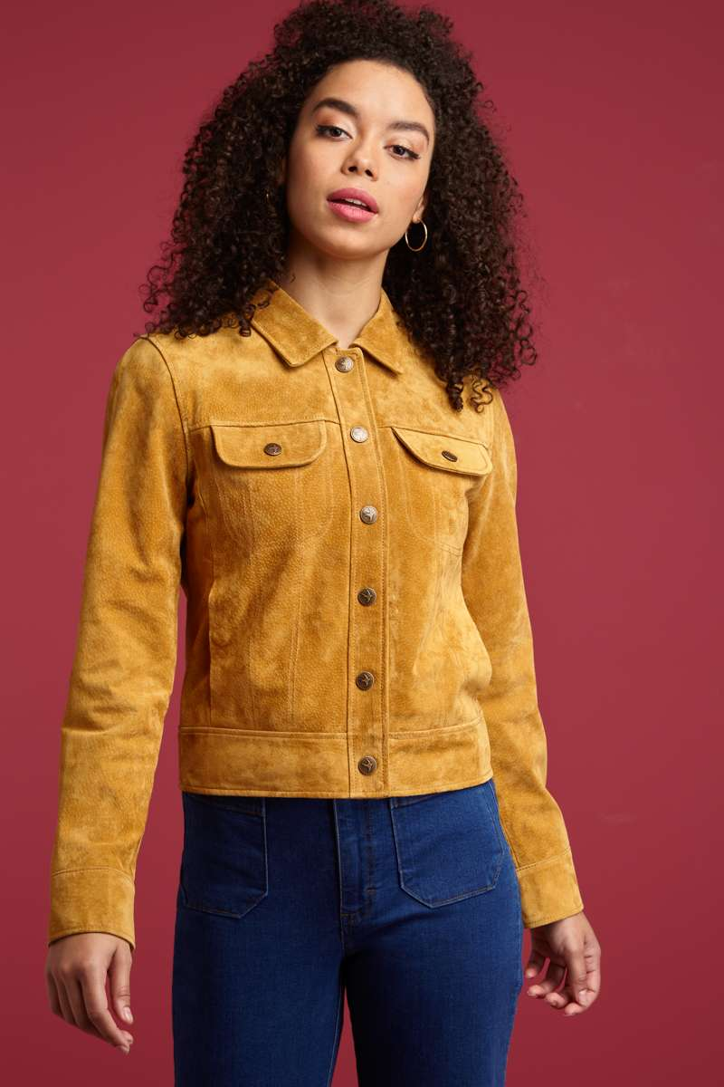 Twiggy Jacket Suede Gold
