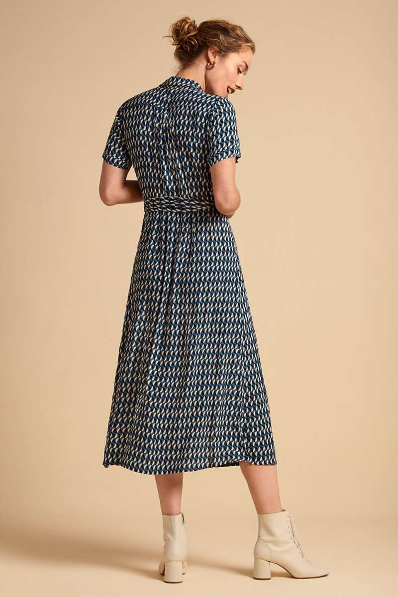 Rosie Midi Dress Papillon Bay Blue