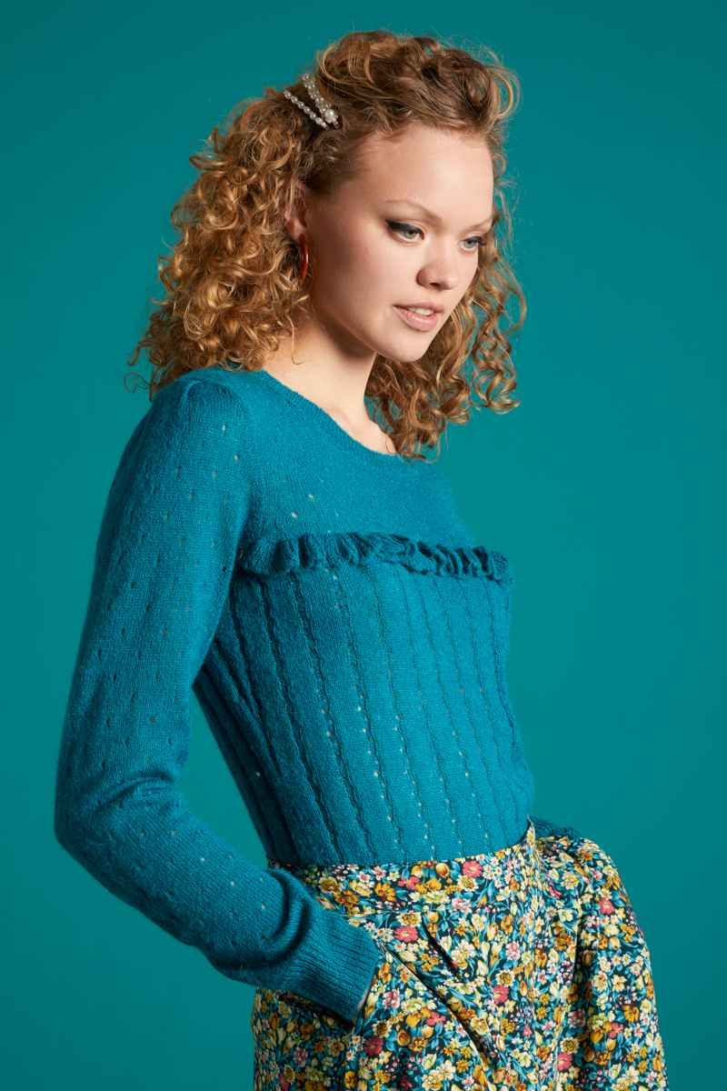 Ruffle Top Fluffy Bay Blue