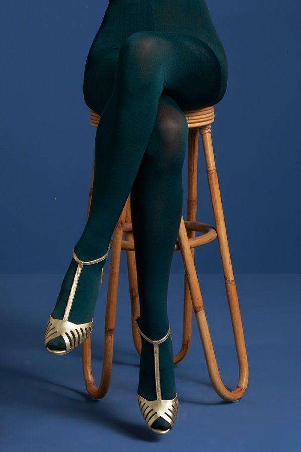 Tights Solid Dragonfly Green