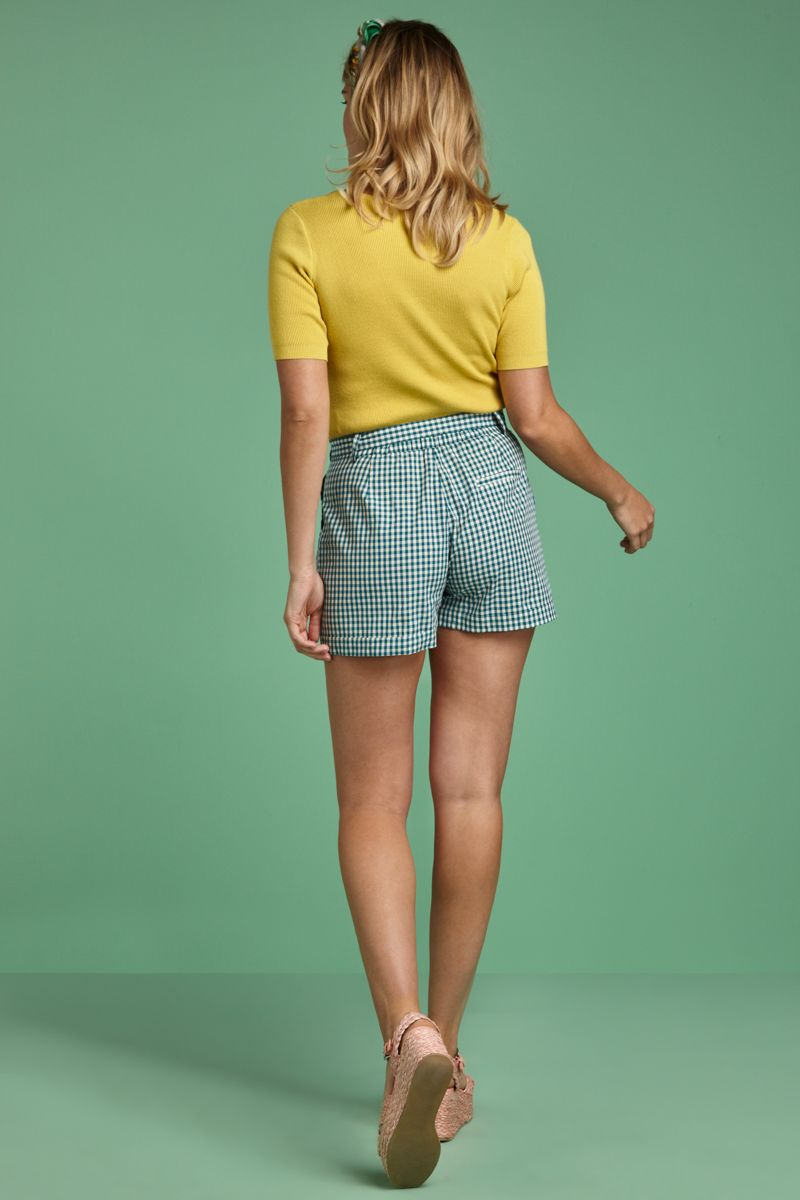 Roisin Shorts Vichy Lapis Blue