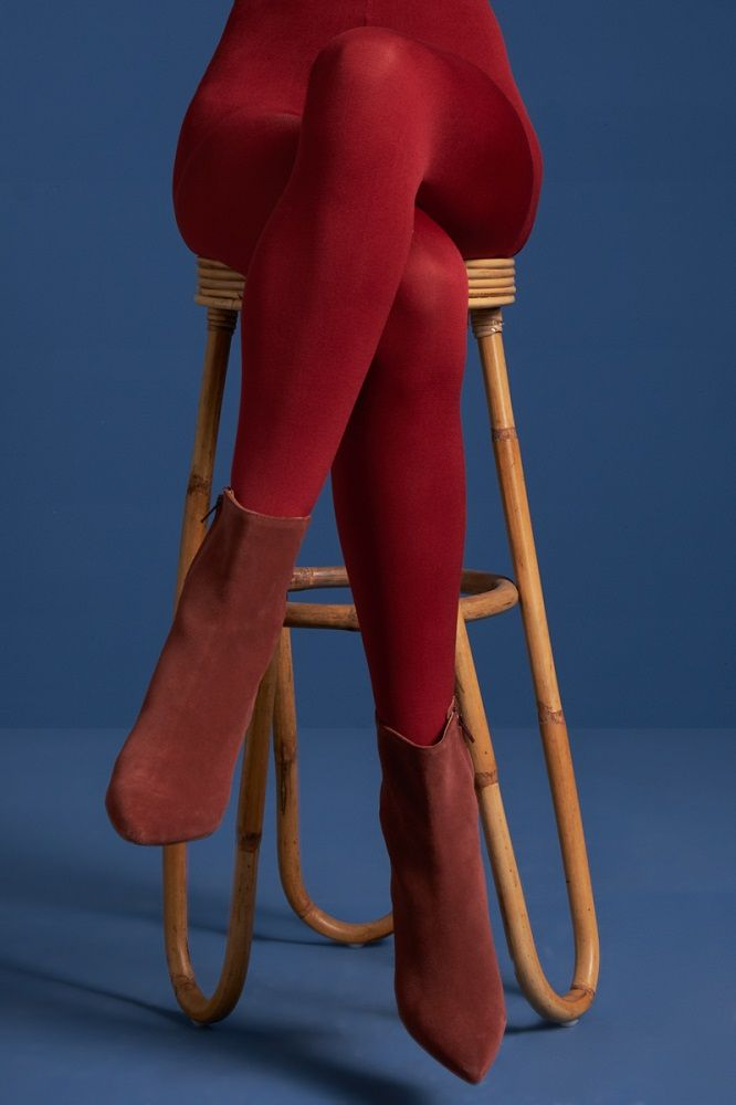 Tights Solid True Red