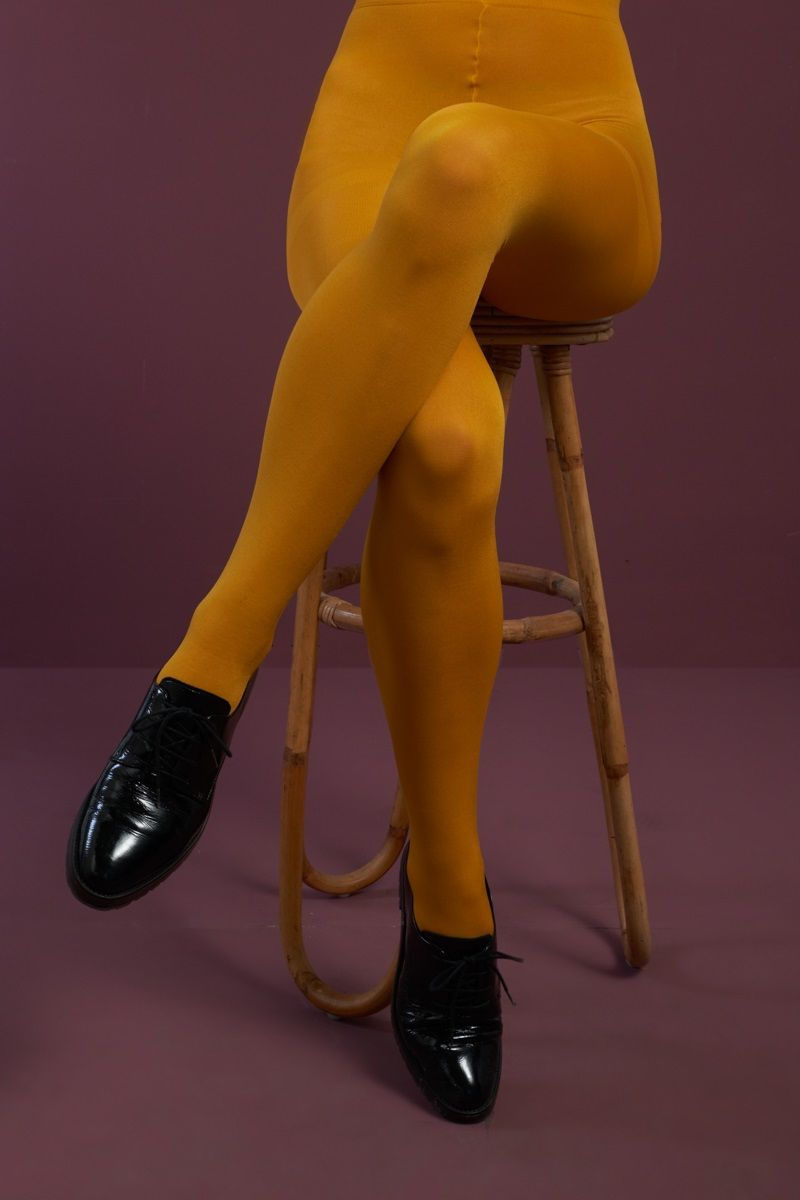 Tights Solid Sunset Yellow