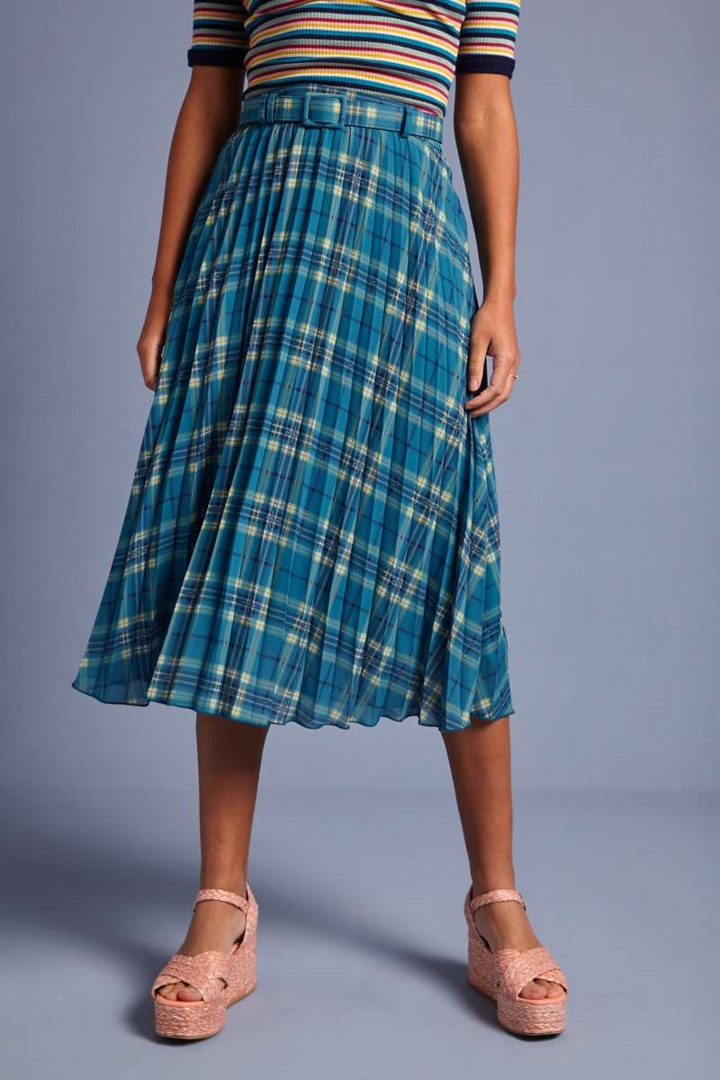 Plisse Skirt Sinclair Voile Bay Blue