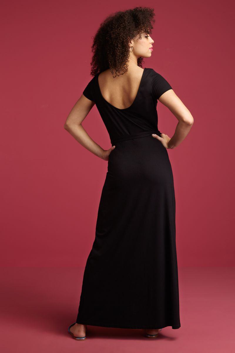 Sally Maxi Dress Viscose Lycra Black