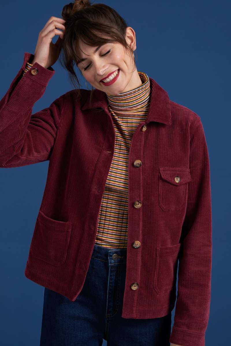 Ellen Jacket Colonne Cherise Red