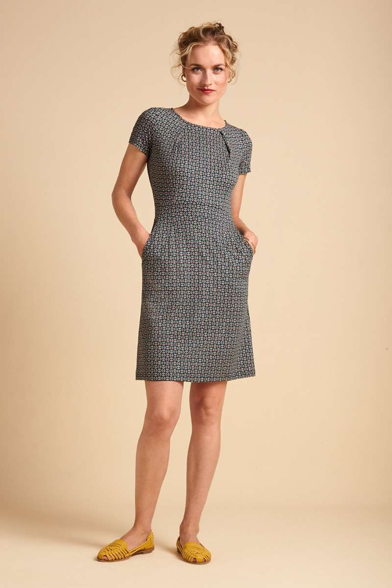 Mona Dress Bourbon Dragonfly Green