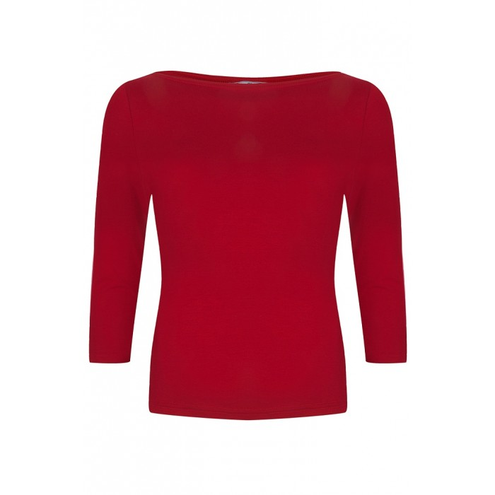Boatneck Top Red
