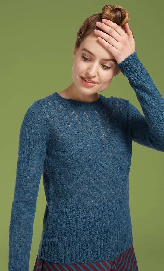 Yoko Knit Top Bargello Orient Blue