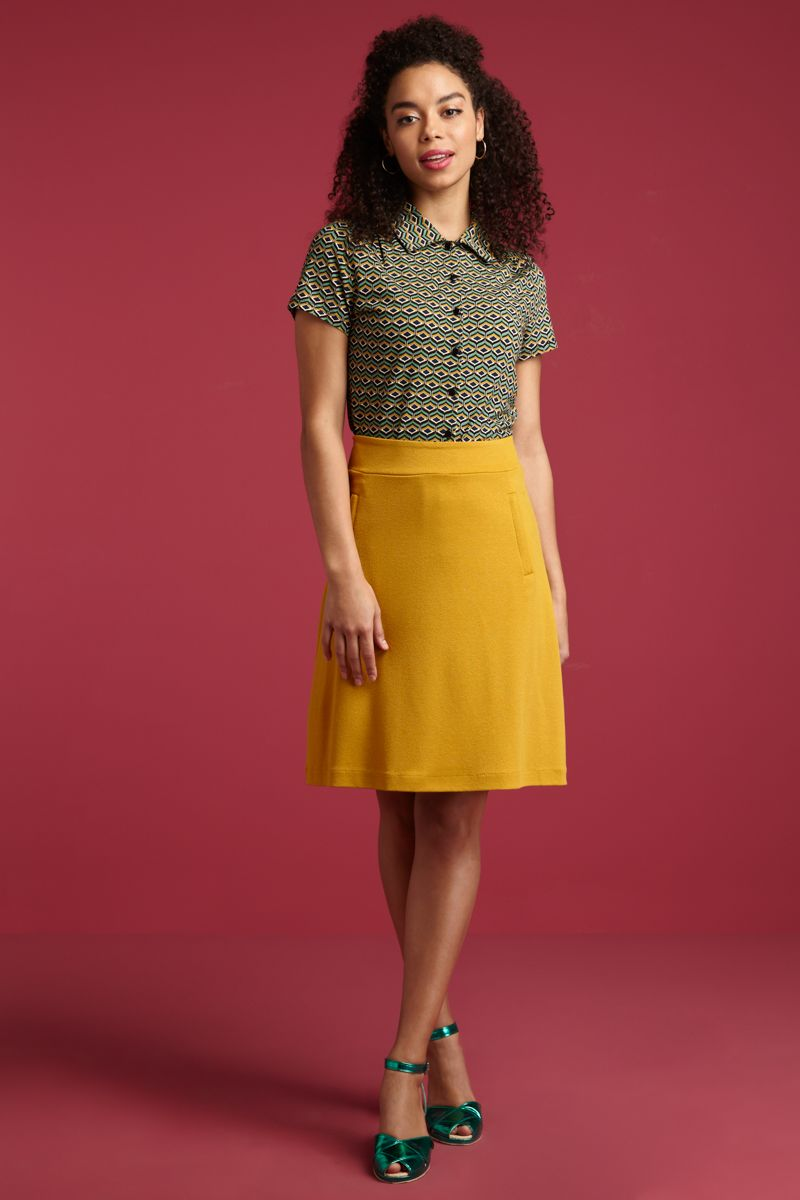 Davis Skirt Milano Crepe Sunset Yellow